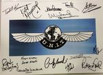 UNIT POSTER A3 Multi Signed Genuine Signed Autographs COA 10073